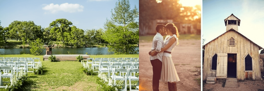 Indoor and outdoor wedding ceremony and receptions at Enchanted Springs Ranch