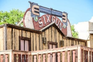 Outside view of the Six Gun Saloon private event venue.