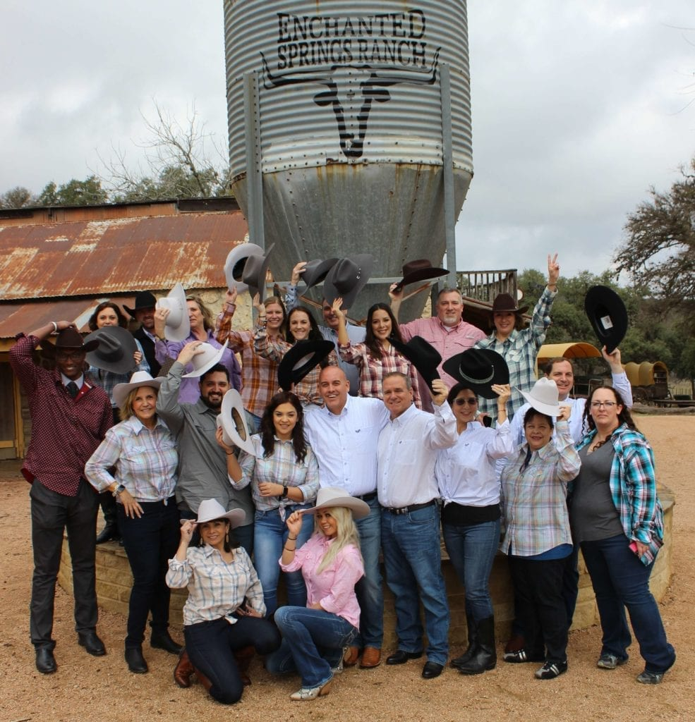 Group photos in front of ESR Water Silo